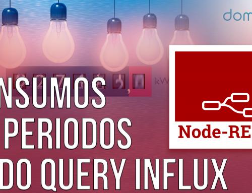 Cálculo de consumos en períodos. Leer datos de influx desde Node-Red. Fácil y sencillo.