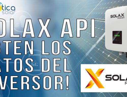 Inversor Solax. Obtén los datos de tu inversor. API local!! Fácil y rápido!