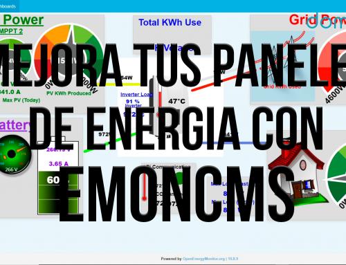Mejora tus paneles de Energia con Emoncms. Paneles espectaculares de manera rápida y sencilla.