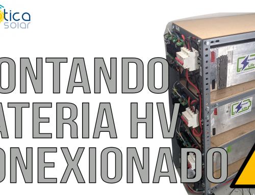 Bateria de Alto Voltaje DIY, Cableado para baterias y Watchmon K9 de Batrium